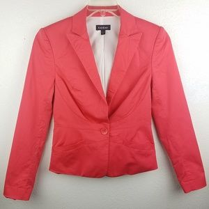 BEBE Coral Pink Single Button Professional Blazer